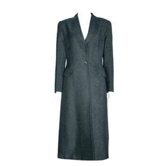 RON LEAL Black One-Button Wool Coat, Houston Texas, Retail Consignment Shop. Fashion, Houston