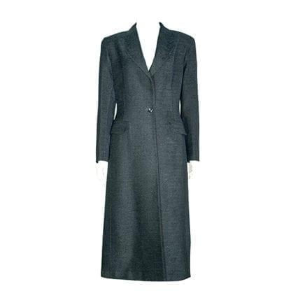 RON LEAL Black One-Button Wool Coat, Houston Texas, Retail Consignment Shop. Fashion, Houston