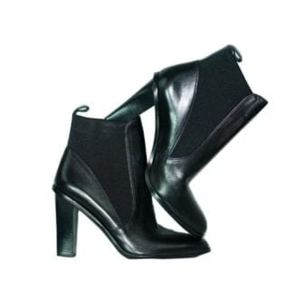 Via Spiga Black Heel Black Ankle Boots Fall Winter Fashion Women's Shoe Women's Boot Houston, Texas Consignment Boutique