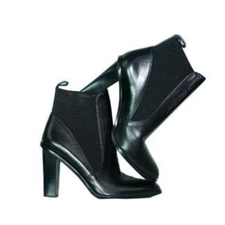 VIA SPIGA Black Heeled Ankle Boots