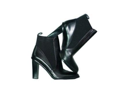 Via Spiga Black Heel Black Ankle Boots Fall Winter Fashion Women's Shoe Women's Boot Houston, Texas Consignment Boutique