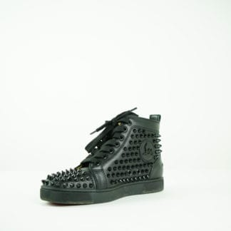 Christian Louboutin Black SPiked Sneakers Womens Shoes Mens Shoes Houston Texas sneakers for sale fall fashion houston, texas designer consignment.