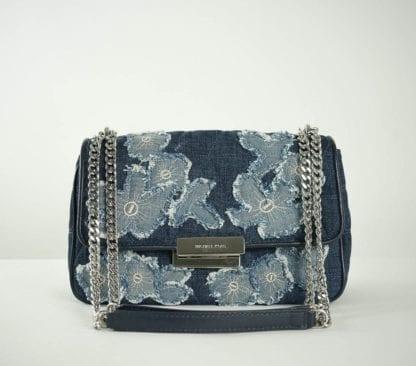 Michael kors denim crossbody bag Women's Designer Bags Houston, Texas Houston Consignment Boutique Couture Blowout