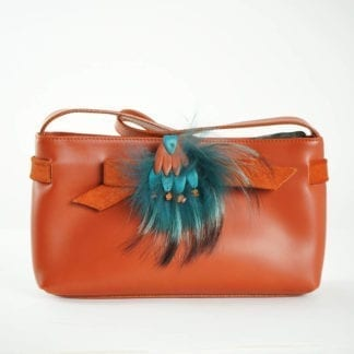 furla handbag orange feather Women's Designer Bags Houston, Texas Houston Consignment Boutique Couture Blowout