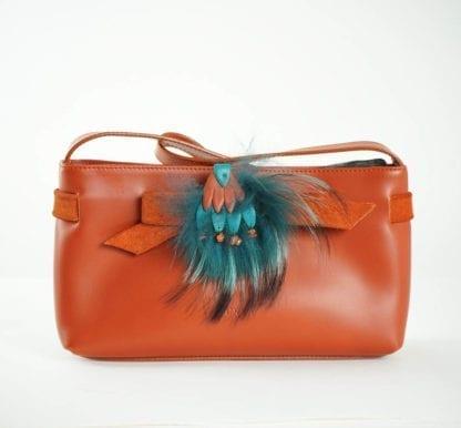 furla handbag orange feather Women's Designer Bags Houston, Texas Houston Consignment Boutique Couture Blowout