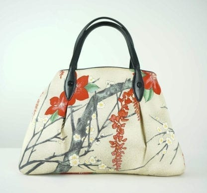 FURLA® Cream Flower Tree Print Handbag Women's Designer Bags Houston, Texas Houston Consignment Boutique Couture Blowout