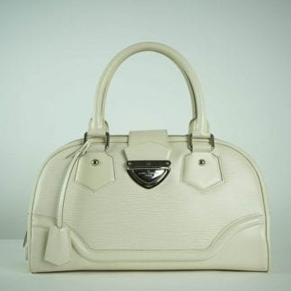 LOUIS VUITTON® White Epi Bowler Bag Women's Designer Bags Houston, Texas Houston Consignment Boutique Couture Blowout