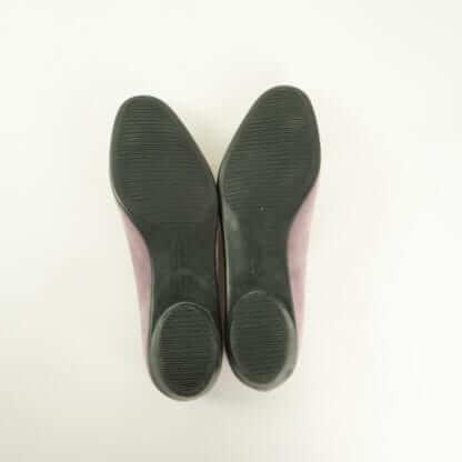 FERRAGAMO® Lilac Suede Bow Flats Women's Designer Shoes Couture Blowout Houston, Texas