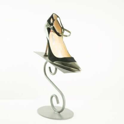 OSCAR DE LA RENTA® Patent Black Suede Leather Pointed Double Strapped Pump Women's Designer Shoes Housotn, Texas Couture Blowout Consignment