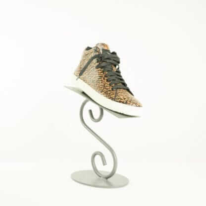 RAG & BONE Kent Brown/Black Tweed Print High Top Sneakers OWmen's Designer Shoes Houston, Texas Fashion Couture Blowout Luxury Consignment
