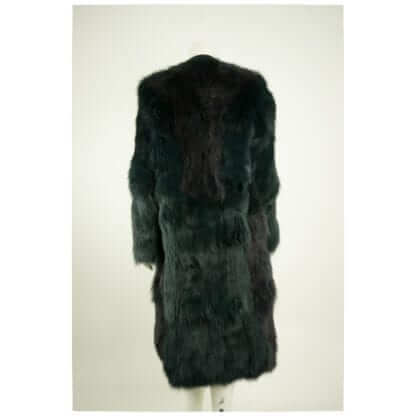 MARNI Blue Green Real Fox Fur Open Coat Women's Designer Coats Houston, Texas Fashion Couture Blowout Luxury Consignment