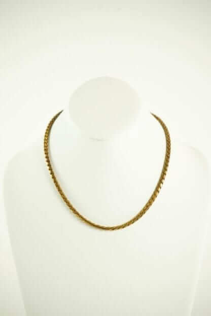 Dark Gold Chain Woven Necklace Houston, Texas Couture Blowout Consignment