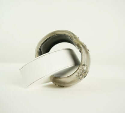 Alexis Bittar Bangle Silver bead bracelet houston, texas Women's Designer Fashion Consignment
