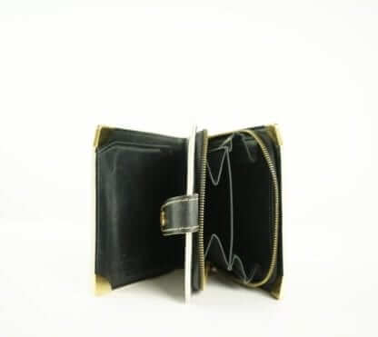 Louis Vuitton Balck and Gold vinatge zipper wallet vintage fashion houston, texas consignment