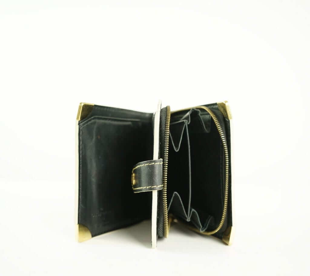 d6eb04bf4a46 Louis Vuitton Balck and Gold vinatge zipper wallet vintage fashion houston,  texas consignment