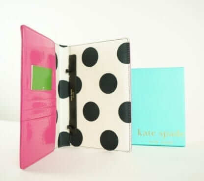 Kate spade large patent pink wallet women's fashion houston, texas women's designer wallets