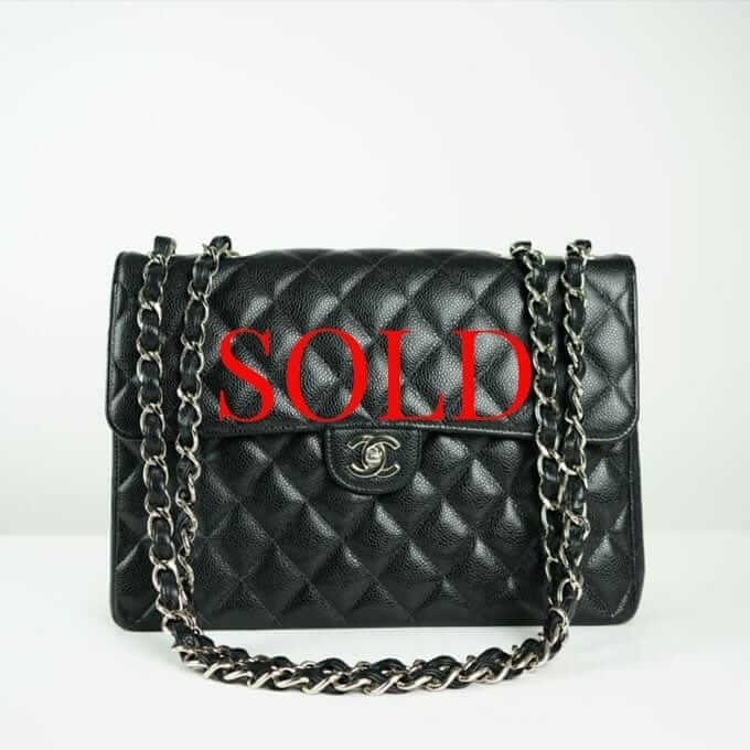 CHANEL® Black Caviar Maxi Classic Bag Women s Designer Bags Houston d3b56a2149106